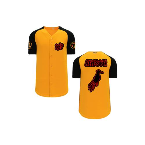 Hell's Pit Crow (Black) Orange/Black Baseball