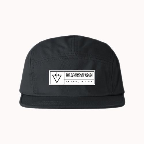 3a35595ba6a Triangle Black 5 Panel Hat   RSRC   MerchNOW - Your Favorite Band ...