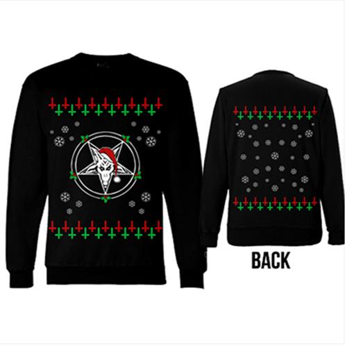 Demon Santa Xmas Sweater Black Crewneck