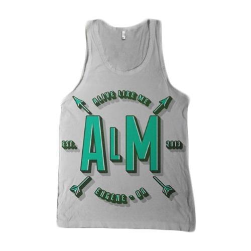 Arrows Ash Grey Tank Top