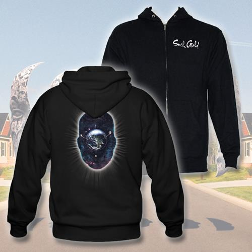 Orbit Black Zip-Up Sweatshirt