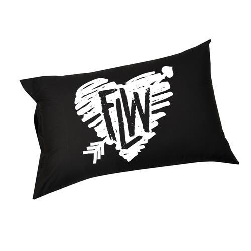 Heart Black Pillow Case