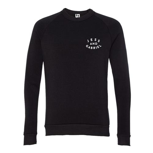 Jess And Gabriel Logo Black Crewneck