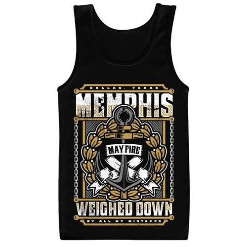 Weighed Down Black Tank Top