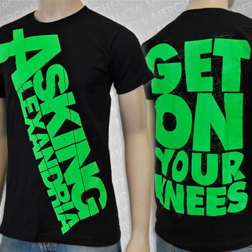 Knees Green Print Black