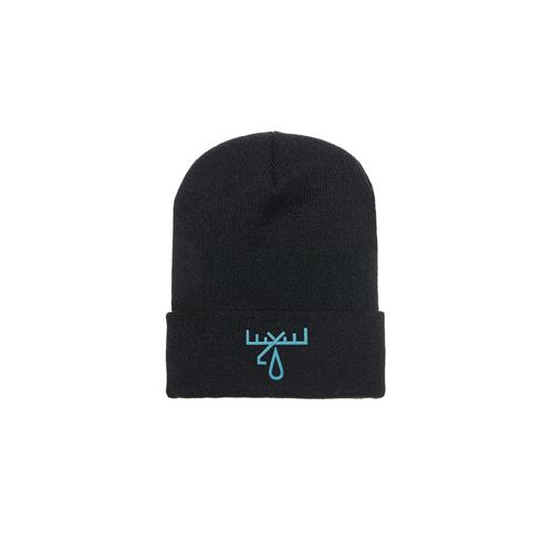 *Limited Stock* Blue Logo Black Beanie