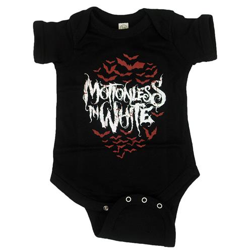 Red Bats Black Baby Onesie