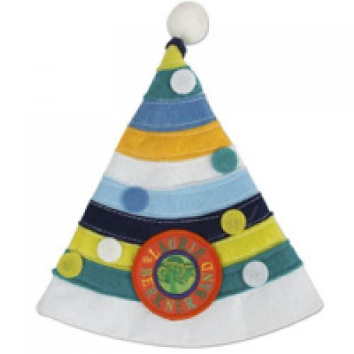 Party Day! Blue Multicolor Party Hat