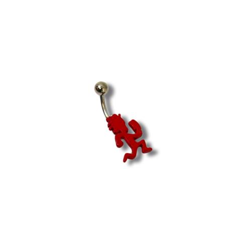 Fixed Red Hatchetman  Belly Piercing Ring