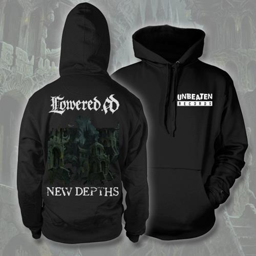 New Depths Black Hooded Pullover