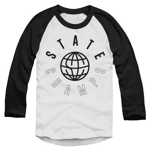 Worldwide Black On White Trunk Raglan Baseball Shirt