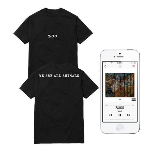 We Are All Animals Black T-Shirt + Digital Album