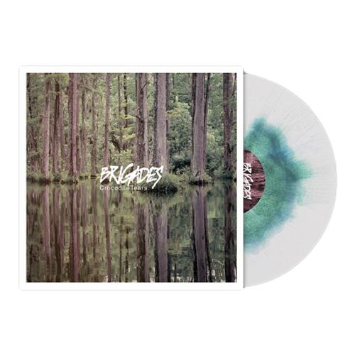 Crocodile Tears White W/Olive Green & Aqua Blue Haze LP
