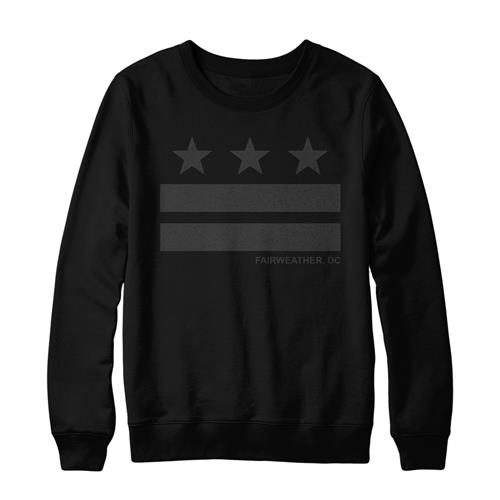 Stripes Black Crewneck Sweatshirt