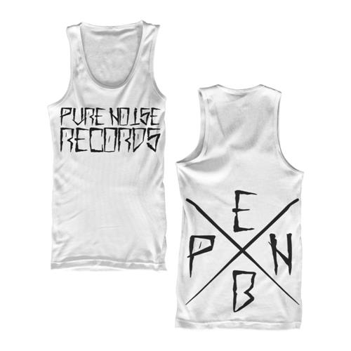 Pure Noise P.N.E.B. White Tank Top