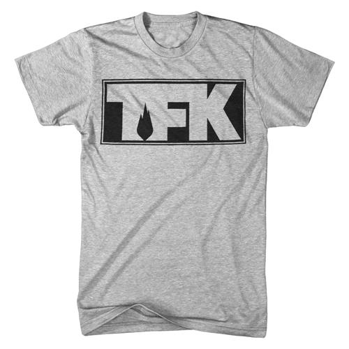 TFK Outline Logo Heather Grey