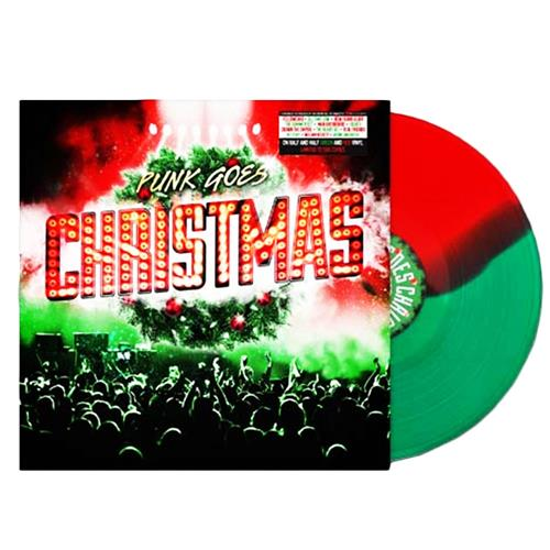 Punk Goes Christmas Half Red/ Half Green Vinyl LP