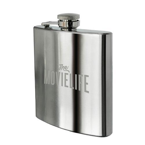 Logo Silver Flask