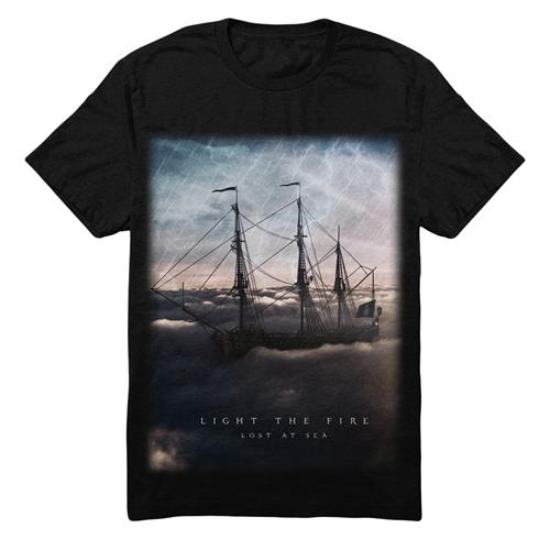 Lost At Sea Black T-Shirt