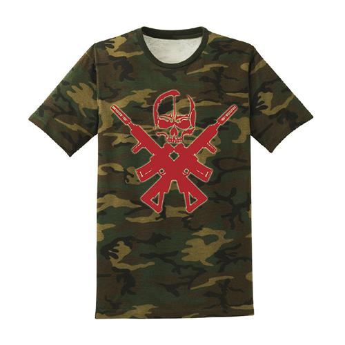 Skull & Crossed Guns Multicam