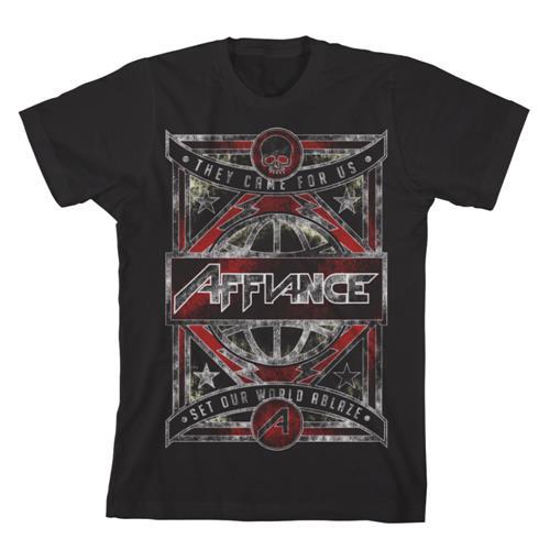 World Ablaze Black T-Shirt
