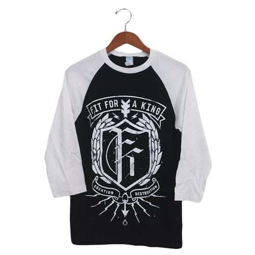 Shield Black/White Baseball Tee