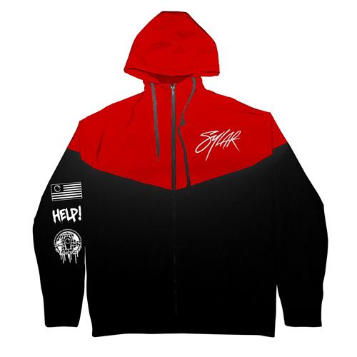 Logo Red/Black Windbreaker