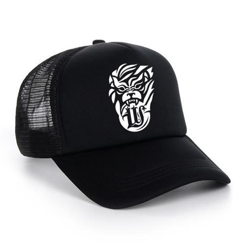 Lion Black Trucker Hat