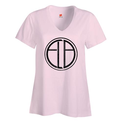 ELB Hidden Behind The Cross Pale Pink V-Neck