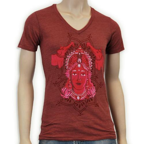 Sesa Naga Lakshmi Face Maroon V-Neck