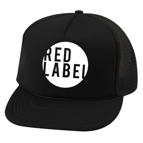 Red Label Circle Black