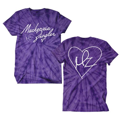 Heart Logo Purple Spider Tye Die