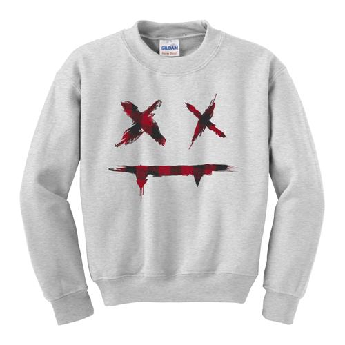 Plaid Face Heather Crewneck