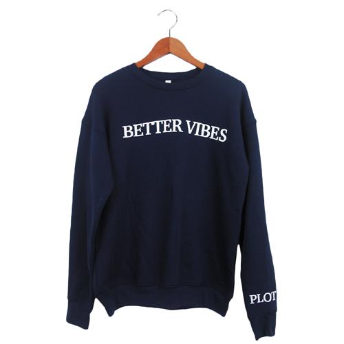 Better Vibes Text Navy