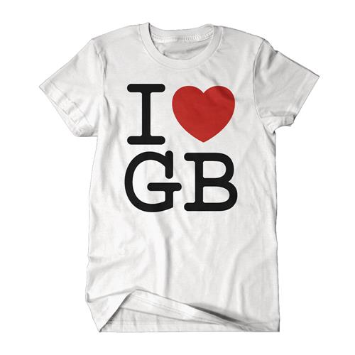 I Love GB On White