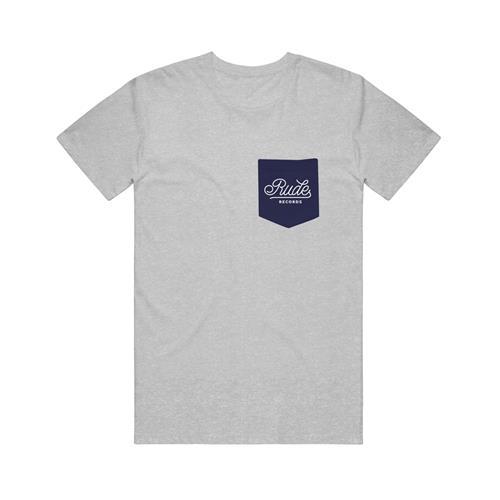 Script Label Merchandise Heather Grey W/ Navy