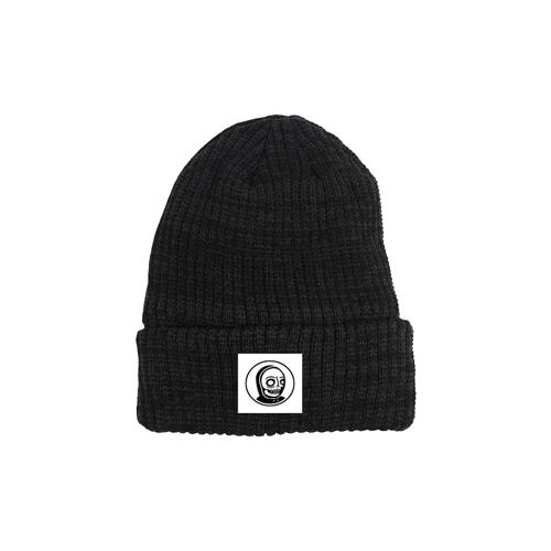Circle Skeleton Black Beanie
