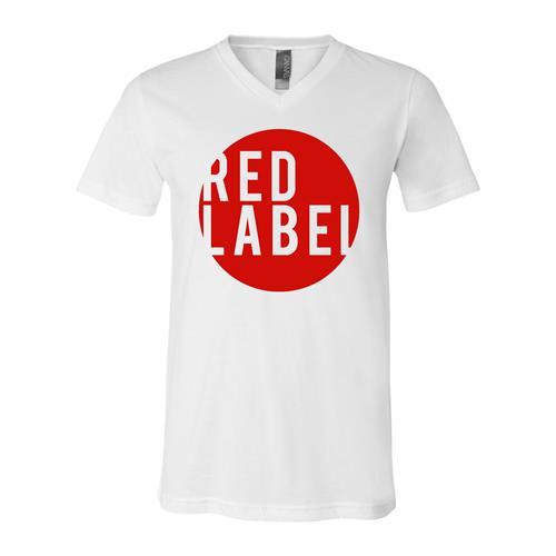Red Label Circle V-Neck White Unisex