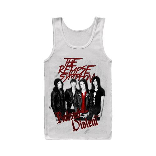 Raised Violent White Tank Top
