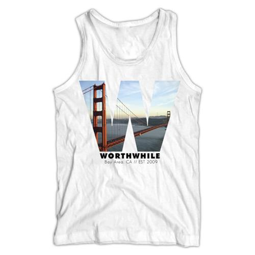 Worthwhile - Bay Area White TankTop