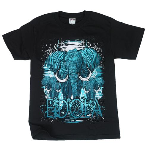 Elephant Stampede Black T-Shirt
