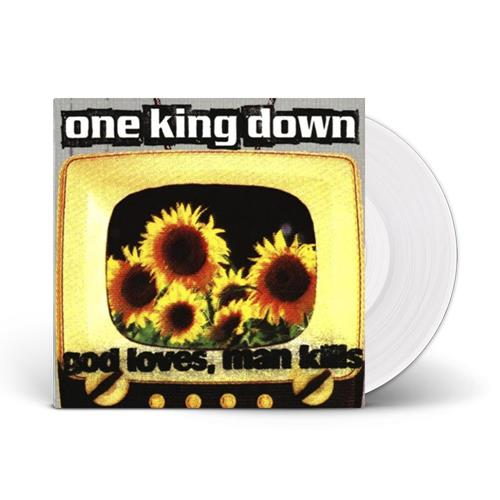 One King Down - God Loves, Man Kills White LP