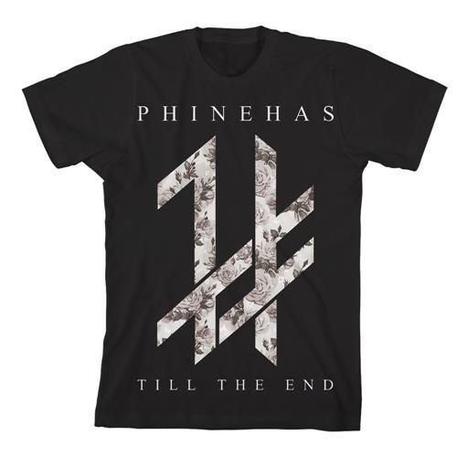 Floral Logo Black T-Shirt