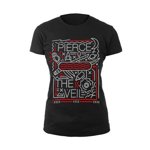 Symbols Black Girl's T-Shirt