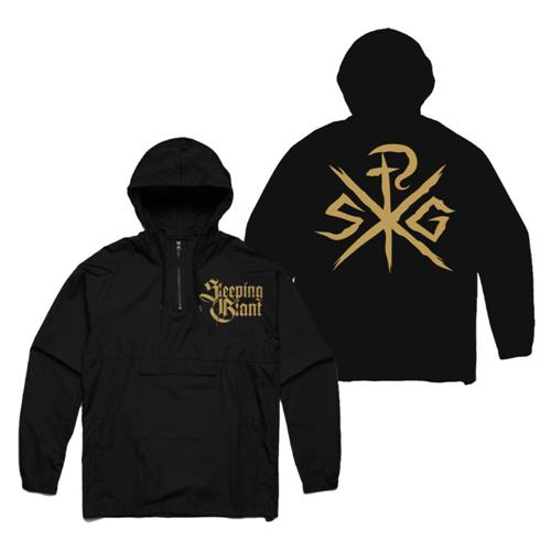 Emblem Black Windbreaker