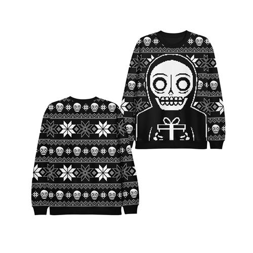Ugly Xmas Black/White Knit
