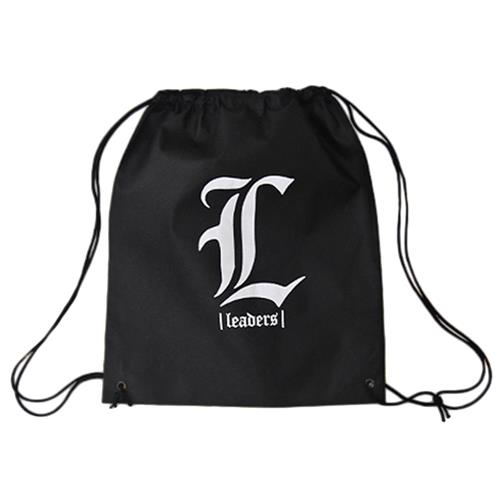 L Logo Black Cinch Bag