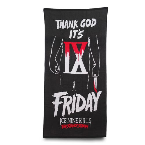 Thank God It's Friday Black Custom Towel