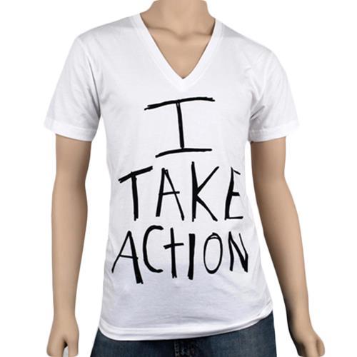 I Take Action V-Neck (No Back) White