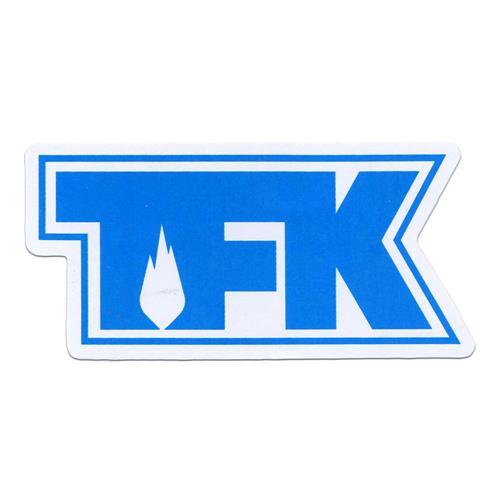 TFK Die Cut Teal On White
